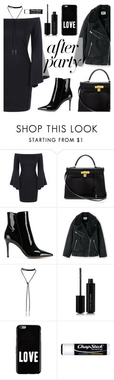 """""""On The Scene: NYFW After Parties"""" by dora04 ❤ liked on Polyvore featuring Hermès, Gianvito Rossi, Marc Jacobs, Givenchy and Chapstick"""