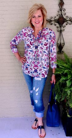 50 IS NOT OLD   COLORFUL PRINT TUNIC