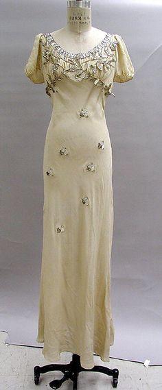 Schiaparelli Court Presentation Dress - Fall 1938 - by Elsa Schiaparelli (Italian, 1890-1973) - Silk, feathers -