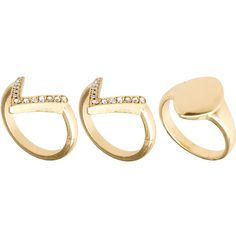ASOS Mixed Pack Sovereign V Band Rings (€12) ❤ liked on Polyvore featuring jewelry, rings, accessories, fillers, aneis, multi, band jewelry, asos, band rings and asos rings