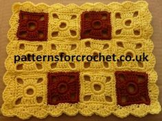 Free Crochet Pattern Motif Placemat/Table Runner from http://www.patternsforcrochet.co.uk/table-runner-usa.html easy to follow.
