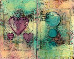 Artful Evidence: Art Journal Background & Journal Page