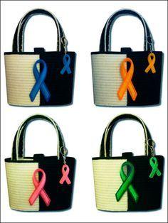 Ribbon Awareness Totes & Accessories  Technique - Plastic Canvas