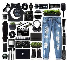 """probs gonna start doing these - idk"" by caylenbruhh ❤ liked on Polyvore featuring Chicnova Fashion, NARS Cosmetics, Minna Parikka, Kat Von D, Topshop, TIGI, GHD, Oribe, Lux-Art Silks and Burberry"