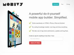Conduit easy mobile app builder web tools pinterest mobile mobivy mobile app builder solutioingenieria Image collections