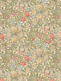 Golden+Lily++is+taken+from+Morris+and+Co's+Morris+Archive+Wallpapers+wallpaper+collection.