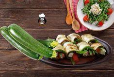 Zucchini-Frischkäse Röllchen - Rezept von Der Hobbykoch Zucchini Pommes, Zucchini Fries, Cream Cheese Rolls, Cheese Rolling, Vegetables, Recipes, Food, Fried Zucchini, Low Carb Side Dishes