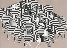 "Charley Harper (1922-2007), ""Serengeti Spaghetti""  27 x 33, silk screen"