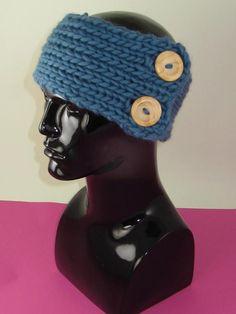 Super Chunky 1 Ball 2 Button Headband