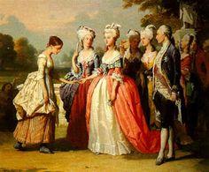 Marie Antoinette faisant ses adieux à une servante by Auguste Lebouys
