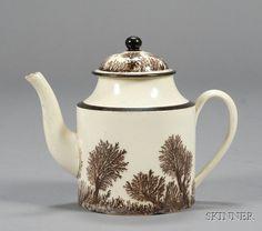 Mochaware Teapot, Seaweed pattern, Be still my heart.