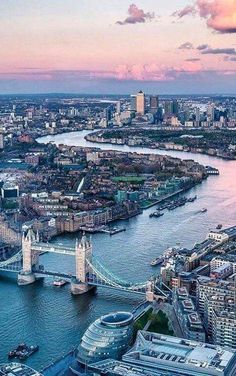 Tower Bridge and River Thames at sunset, London, England.   •Photo by visitbritain: https://www.instagram.com/p/BIsqWd2hVVx/