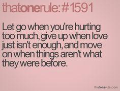 Sometimes we stick around too long.