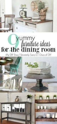 9 Yummy Furniture Ideas for the Dining Room. Try a table makeover or one of these amazing storage solutions! by concepcion
