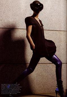 """Flair Italia, Dec 2007 """"Nuove Silhouettes"""" Model: Marina Perez Photo: Satoshi Saikusa"""