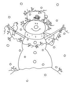 Free Dearie Dolls Digi Stamps: Snowman Birdhouse