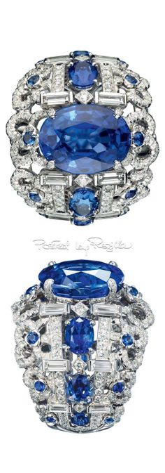 Chaumet ~ Sapphire + Diamond Ring .
