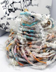 Handspun Art Yarn Corespun Sheeping Beauties by SheepingBeauty, $30.00