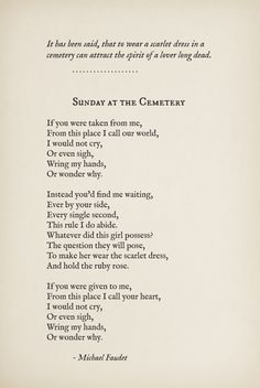 Sunday at the Cemetery by Michael Faudet