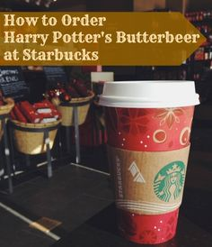 How to Order a Harry Potter Butterbeer at Starbucks
