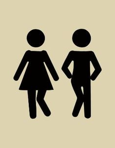 Bathroom Signs Holding Hands free printable toilet signs - i want to use these as a template on