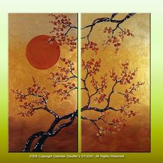 Abstract Painting Asian Painting Wall Art Wall Decor Large PaintingTexture Painting Blossom Painting Art by Gabriela Made To Order Multi Canvas Painting, Zen Painting, Large Painting, Texture Painting, Canvas Art, Art Original, Original Paintings, Art Mural, Wall Art