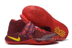 """d877ccbc2802 Find Discount Nike Kyrie 2 """"Cavs"""" PE Wine Red Yellow online or in  Yeezyboost. Shop Top Brands and the latest styles Discount Nike Kyrie 2  """"Cavs"""" PE Wine Red ..."""