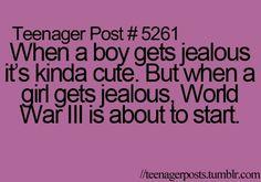 So oh so true :) us girls can start ww3