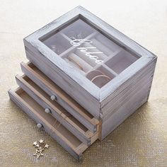 notonthehighstreet.com - Personalised Wooden Jewellery Box With Drawer