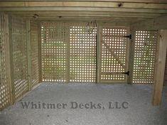 lattice door under deck - Google Search …