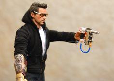 Tony and his makeshift nail gun