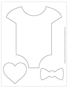 Great for DIY banners, cupcake toppers, baby shower decorations. Baby Shower Printables, Baby Shower Templates, Free Printables, Baby Shower Crafts, Diy Baby Shower Decorations, Unisex Baby Shower, Baby Boy Shower, Baby Onesie Template, Diy Envelope Template