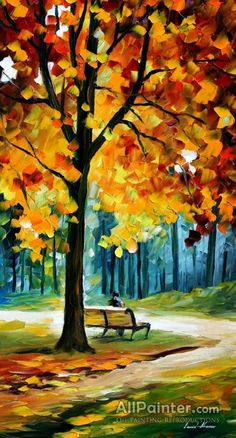 Recollections Of The Rast by Leonid Afremov Handmade oil painting reproduction on canvas for sale,We can offer Framed art,Wall Art,Gallery Wrap and Stretched Canvas,Choose from multiple sizes and frames at discount price. Simple Oil Painting, Oil Painting On Canvas, Canvas Art, Oil Painting Trees, Autumn Painting, Painting Flowers, Acrylic Canvas, Canvas Ideas, Landscape Art