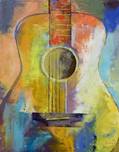 """""""Guitar Melodies"""" by Michael Creese // Original oil on canvas painting by American artist Michael Creese. // Imagekind.com -- Buy stunning, museum-quality fine art prints, framed prints, and canvas prints directly from independent working artists and photographers."""