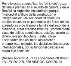 Según expertos, la sociedades off shore son utilizadas como instrumentos de fraude y ocultación de personas físicas - (04/04/2016)