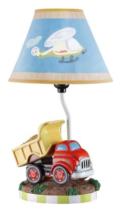 Teamson Kids Boys Table Lamp - Transportation Room Collection