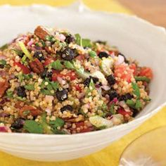 I'll admit i didn't know what Quinoa  (KEEN-WAH) was when I saw it at the co-op so I didn't buy any, now I wish I had. :(