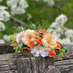 Čelenka do vlasov / Hydrangea - SAShE. Rose, Flowers, Plants, Pink, Plant, Roses, Royal Icing Flowers, Flower, Florals