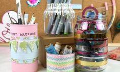Faça artesanato para mesa de estudos com material reciclado e alcance um lindo visual para o seu amb