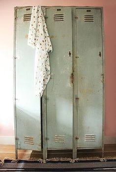 would love a bathroom big enough for this locker unit. one for each of us. fabulous!!