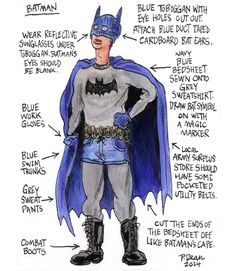 """Patrick Dean Illustrates """"Half-Assed Cosplay Ideas"""" for Comic Book Fans on a Tight Budget"""