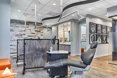Rustic and Modern Ope Bay. Dental Office Design by Arminco Inc.