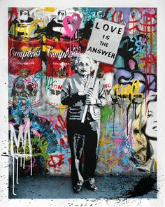 """""""Love is the Answer"""" Mr. Brainwash on http://firmninedesign.com"""