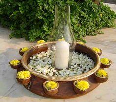 Diya Decoration Ideas, Diwali Decorations At Home, Festival Decorations, Handmade Decorations, Flower Centerpieces, Flower Decorations, Arabian Decor, Home Decor Bedroom, Diy Bedroom