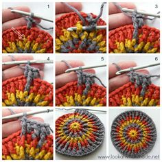 Front Post Frenzy Crochet Potholder, free pattern and tutorial from Look At What I Made