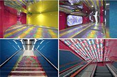 Subway's design, Naples, Italy