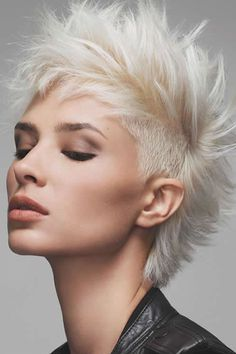 Glam-Rock - Haircut . I want to cut this for someone!  I am too old..... Love the color, love the cut!  She's perfect for it!