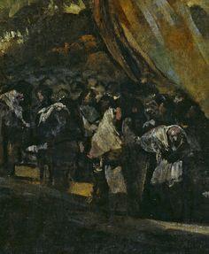 """Francisco de Goya: """"Peregrinación a la Fuente de San Isidro, o El Santo Oficio"""" (detail)"""