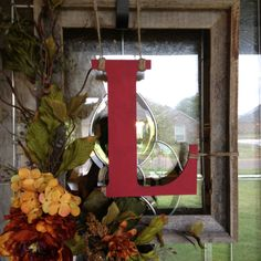 Fall Monogram Frame Wreath