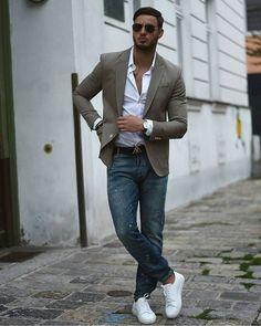 Blazer & jeans